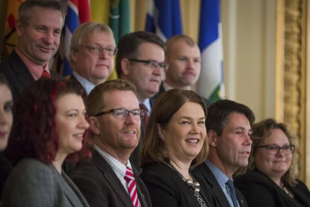 Au terme d'une rencontre entre ministres de la... (PHOTO Darryl Dyck, LA PRESSE CANADIENNE)
