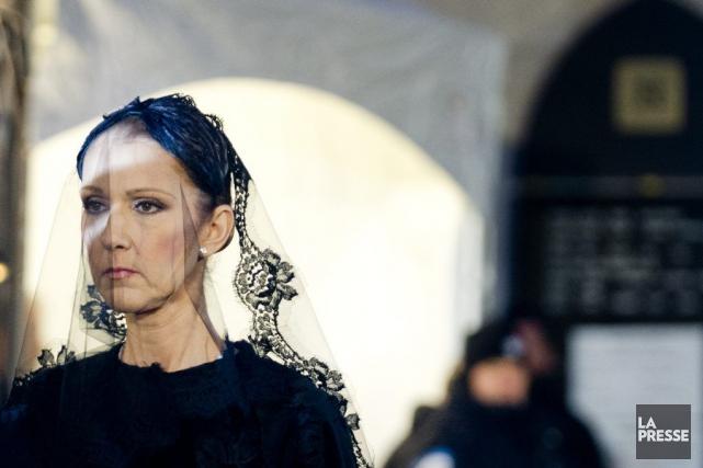 Céline Dion auxfunérailles de son mari René Angélil,... (PHOTO MARCO CAMPANOZZI, ARCHIVES LA PRESSE)