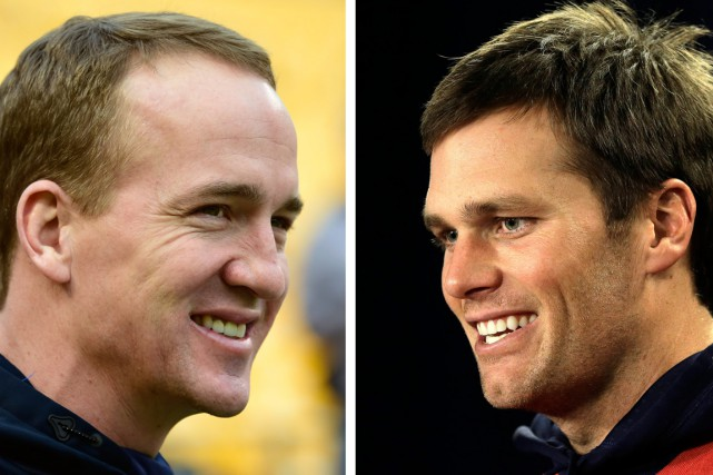 Peyton Manning et Tom Brady... (PHOTOS ARCHIVES ASSOCIATED PRESS)