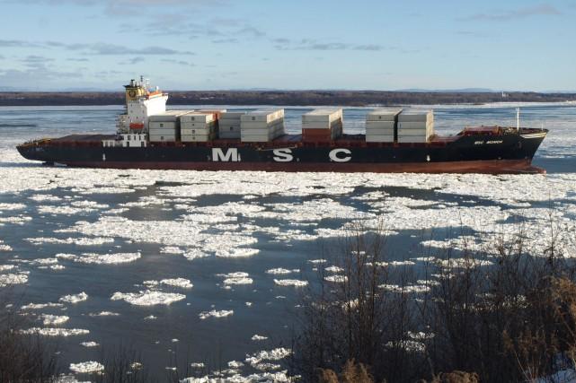 Le MSC Monicaest maintenant amarré au port de... (Adrien Duval)
