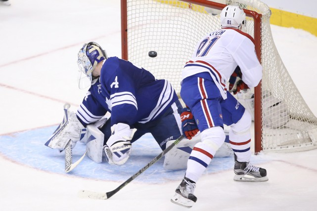 Lars Eller a marqué le but gagnant en... (PHOTO TOM SZCZERBOWSKI, USA TODAY SPORT)