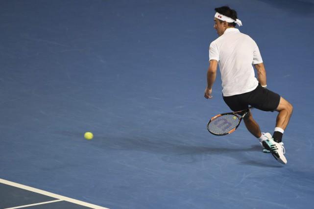 Kei Nishikori... (PHOTO WILLIAM WEST, AFP)