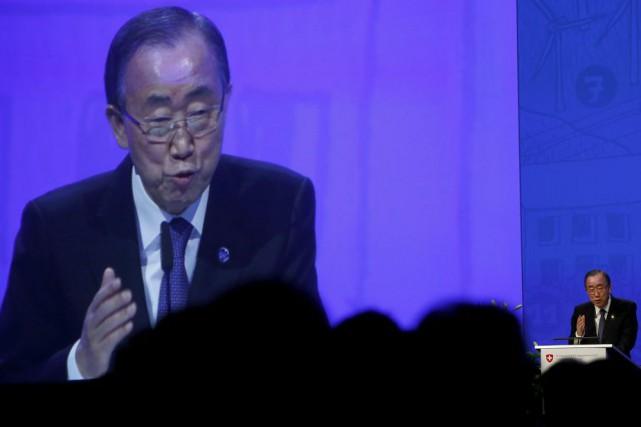 Le Secrétaire général de l'ONU Ban Ki-Moon a... (PHOTO ARND WIEGMANN, REUTERS)