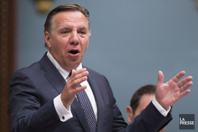 Le chef de la CAQ, François Legault.... (PHOTO PC)