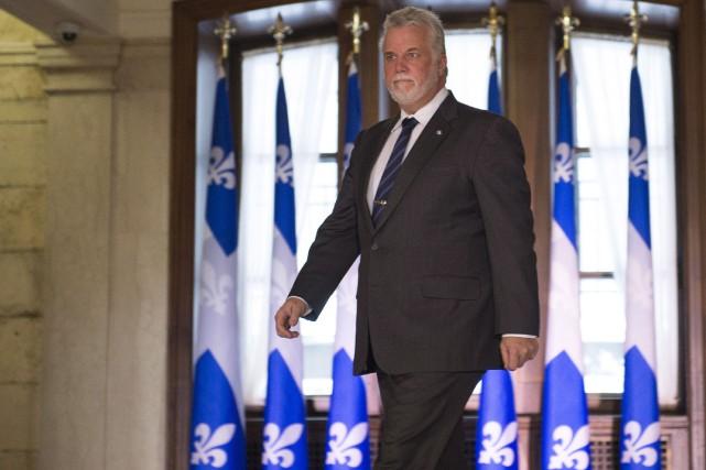Le premier ministre Philippe Couillard ira courtiser les... (La Presse Canadienne, Jacques Boissinot)