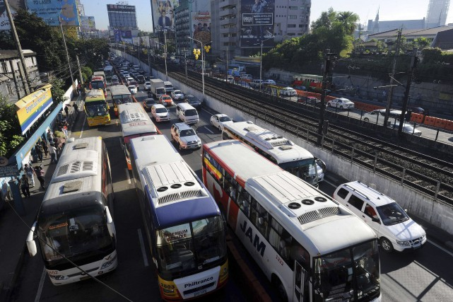 Aux Philippines, l'émergence de la classe moyenne est... (AFP, Jay Directo)