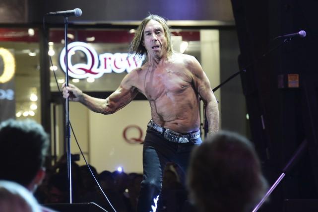 Iggy Pop, 68ans, précurseur du mouvement punk connu... (AFP, Frederic J. Brown)