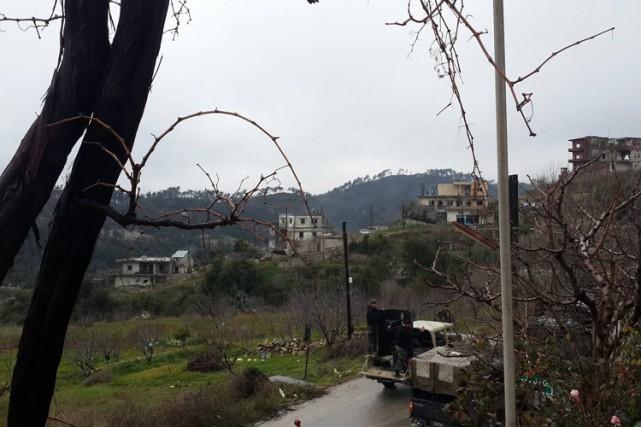 Dans le nord-ouest de la Syrie, le régime... (PHOTO AFP)
