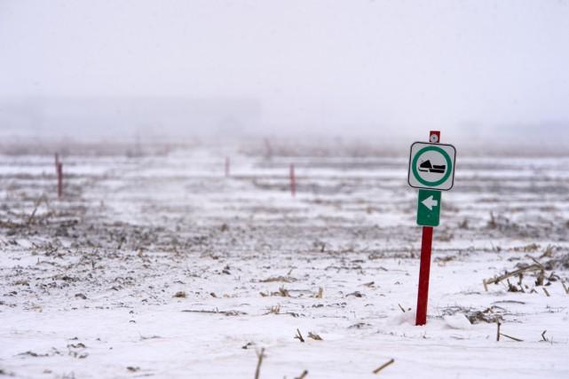 Le manque de neige dans la région a... (Stéphane Lessard)