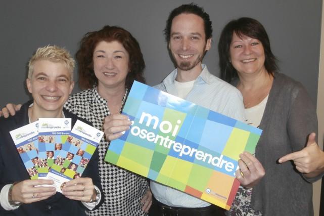 Caroline Larocque, Maryline Martin, Frédérick Bonner et Carole... (Fournie par Entrepreneuriat Haute-Yamaska)