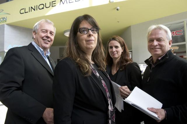 Les conseillers indépendants Pierre Tardif, Hélène Dauphinais, Annie... (La Tribune archives, René Marquis)