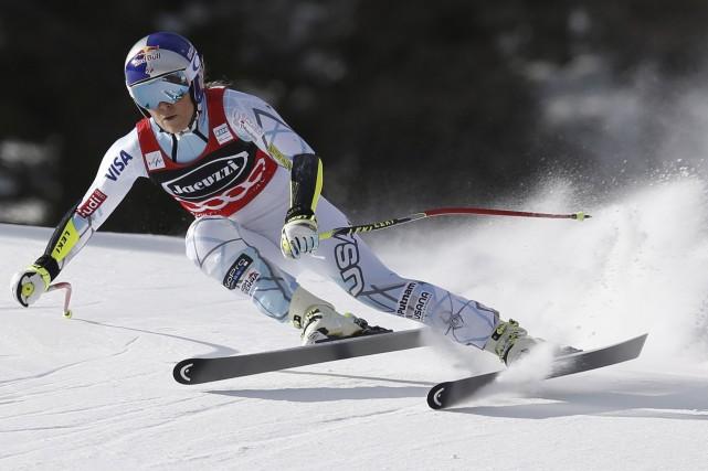 LindseyVonn a remporté les trois super-G de la... (AP, Marco Trovati)