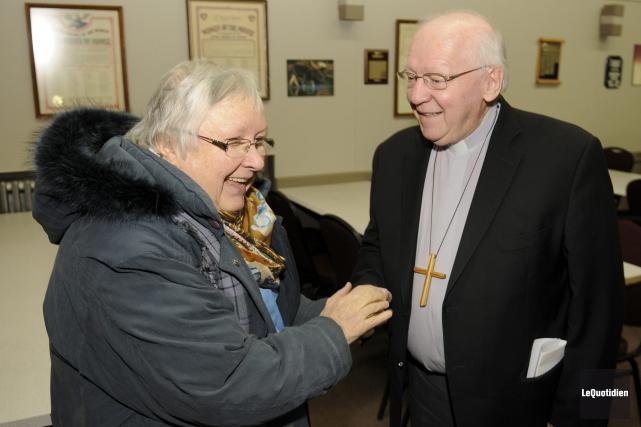 L'évêque du Diocèse de Chicoutimi, Mrg André Rivest,... (Photo Le Quotidien, Mariane L. St-Gelais)