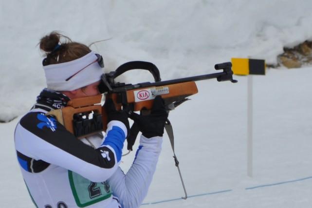 Le club de biathlon de Sherbrooke doit se débrouiller sans cinq carabines à air... (Archives)