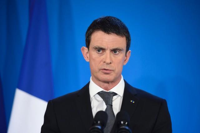 Le premier ministre Manuel Valls... (PHOTO ERIC FEFERBERG, AFP)