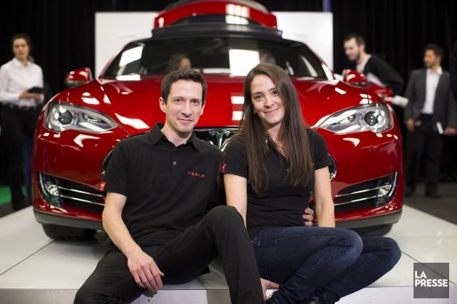 Alexis Bélanger et sa femme Valériane Deniger, de... (Photo Édouard Plante-Fréchette, La Presse)