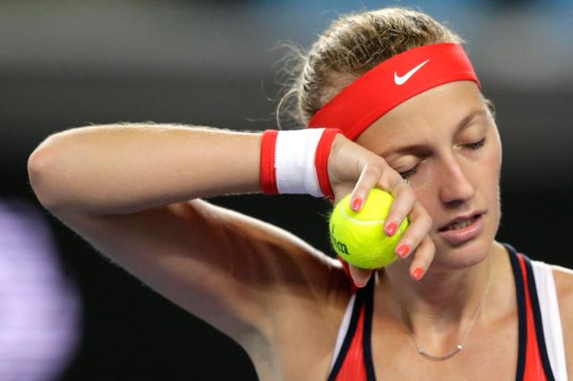 PetraKvitova a été éliminée des Internationaux d'Australie au... (Photo Aaron Favila, AP)