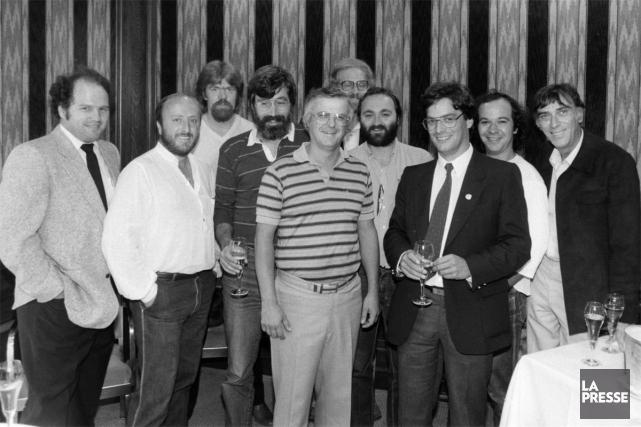 Daniel Lemay (deuxième à partir de la droite)... (PHOTO ARCHIVES LA PRESSE)