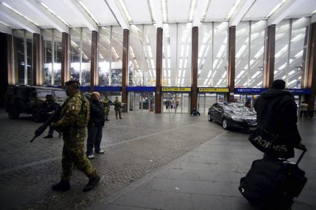 À Termini, où les mesures de sécurité ont... (Photo AFP)