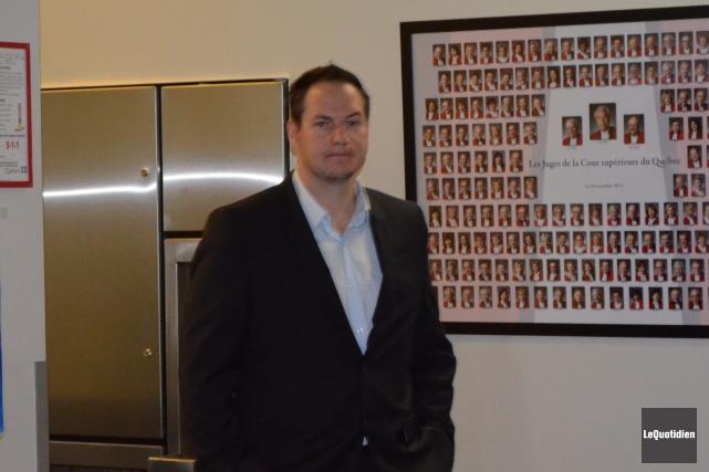 Pierre-Luc Fortin, copropriétaire de Saint-Félicien Toyota, est acquitté.... (Photo Le Quotidien, Louis Potvin)