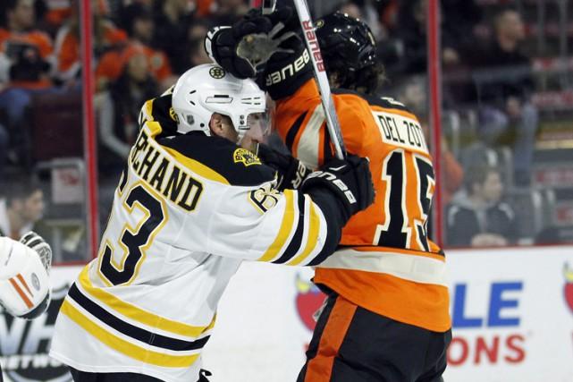 Brad Marchand a récolté son 20e filet de la saison alors que les Bruins de... (PHOTO AP)