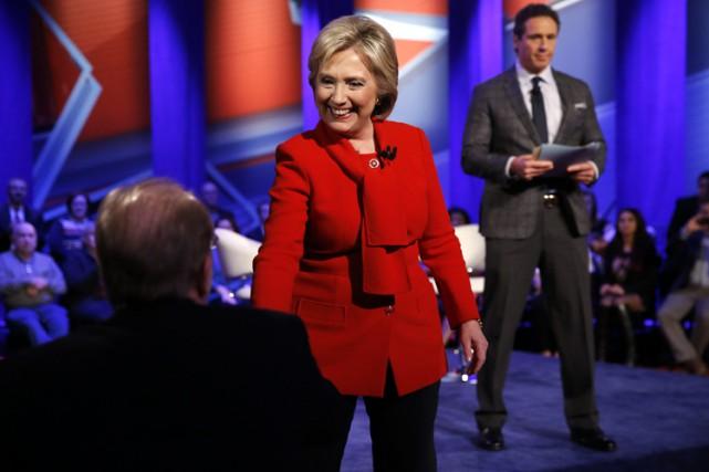 Hillary Clinton a participé lundi soir à une... (PHOTO AP)