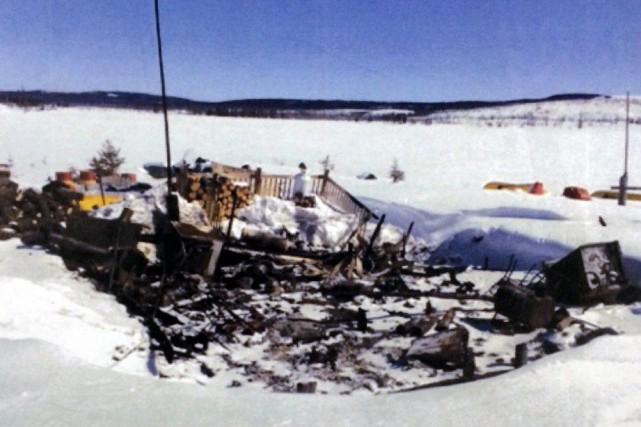 Les dommages étaient si grands qu'il a été... (PHOTO FOURNIE PAR LA SQ)