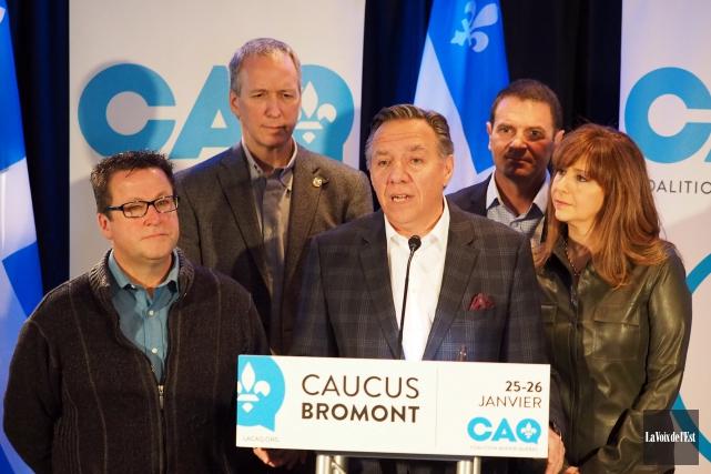 Le chef de la Coalition Avenir Québec, François... (photo Alain Dion, La Voix de l'Est)