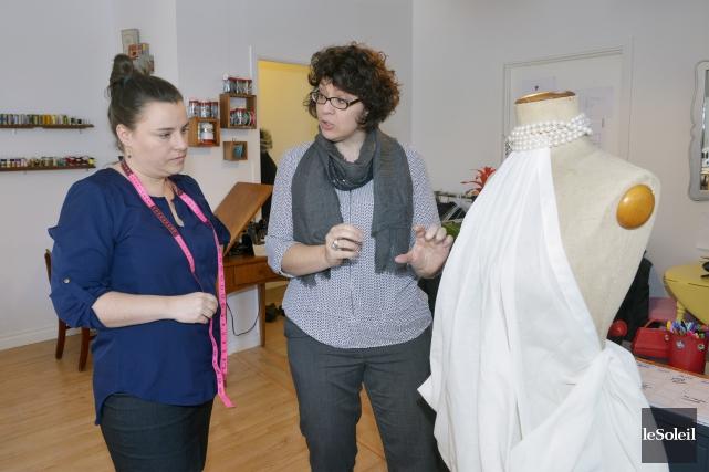 Cynthia Roussel etNathalie Dionne, propriétaires de l'atelier de... (Le Soleil, Jean-Marie Villeneuve)