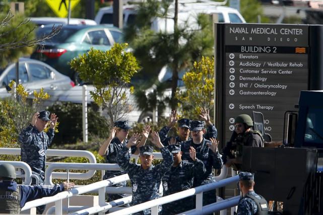 L'hôpital militaire visé est situé dans le parc... (PHOTO AFP)
