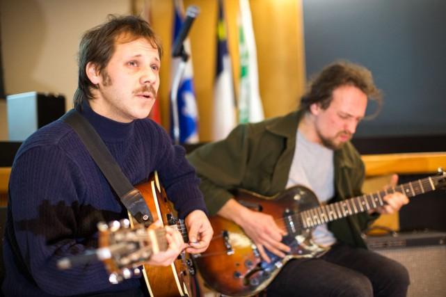 Le duo montréalais Fire/Works composé de David Lagacé,... (Olivier Croteau)