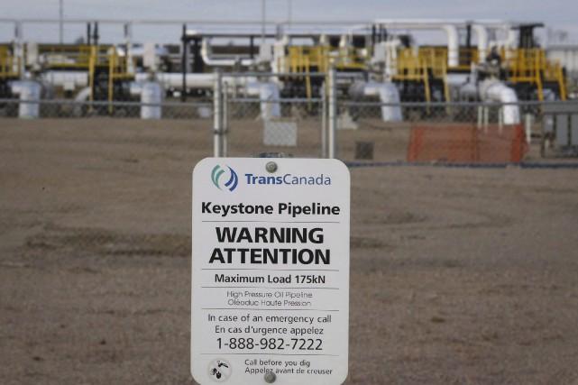 Les installations de l'oléoduc Keystone de TransCanada à... (PC, Jeff McIntosh)