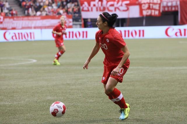 Marie-Ève Nault a été écartée de l'équipe nationale... (Soccer Canada)