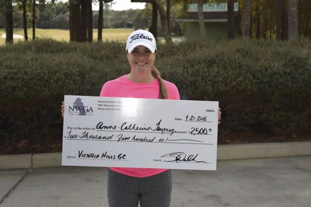 Le sourire d'une championne. Après seulement une saison... (fournie par la National women's golf association)