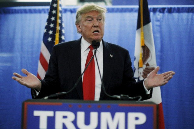 Donald Trump a tenu un point de presse... (PHOTO REUTERS)