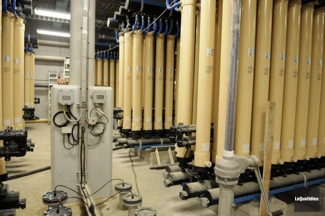 L'usine de filtration de Jonquière est maintenant dotée... (Photo Le Quotidien, Mariane L. St-Gelais)