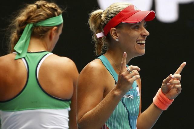 Angelique Kerber a gagné cinq jeux de suite lors de la deuxième manche et a... (PHOTO REUTERS)