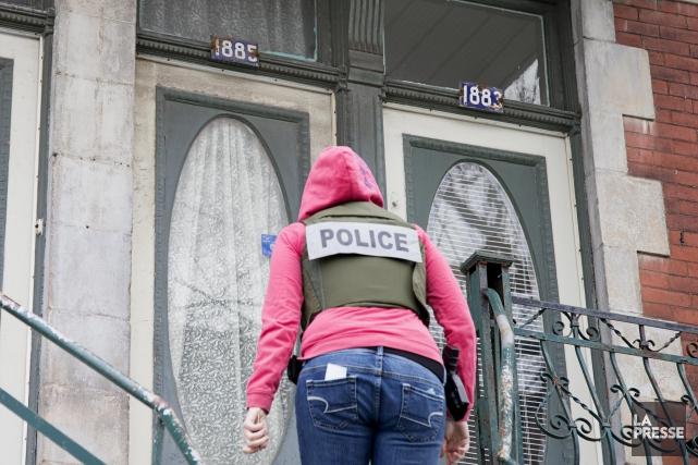 Près de 150 policiers sont déployés. D'autres arrestations... (PHOTO ALAIN ROBERGE, ARCHIVES LA PRESSE)