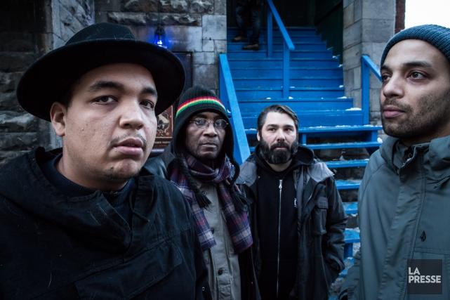 Le trio Brown, composé des frèresSnail Kid (Grégory,... (PHOTO EDOUARD PLANTE-FRÉCHETTE, LA PRESSE)