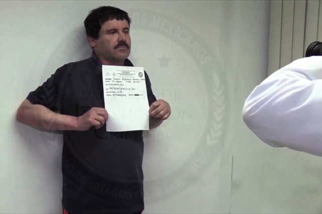 Joaquin «El Chapo» Guzman dans une capture d'écran... (PHOTO AFP)