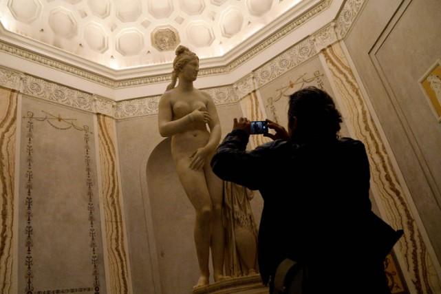 Une statue de Vénus exposée au musée du... (PHOTO AFP)