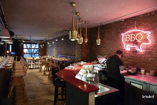 En plus des tables «conventionnelles», deux bars à... (Le Soleil, Caroline Grégoire)