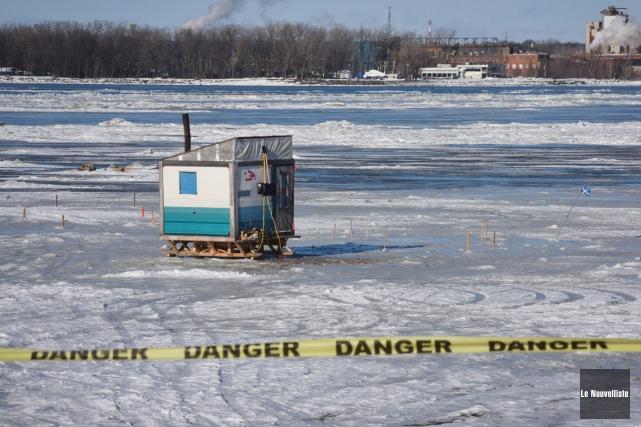 Les glaces au nord du quai de Sainte-Angèle-de-Laval... (François Gervais, Le Nouvelliste)
