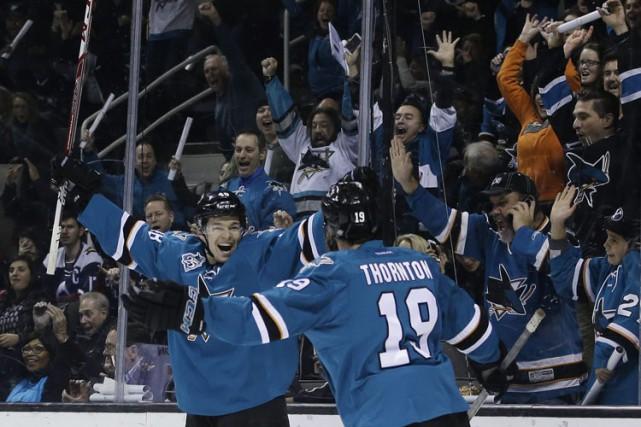 Après un début de saison couci-couça, les Sharks de San Jose sont de plus en... (PHOTO AP)