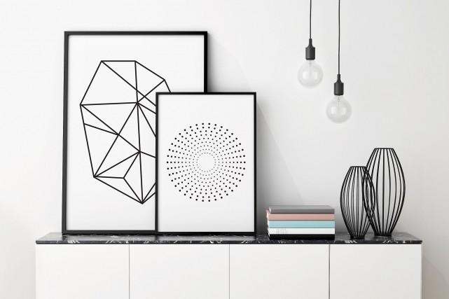Des affiches géométriques de Design Manu & Co... (Fournie par Design Manu & Co)
