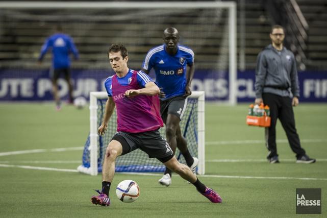 Cameron Porter à l'entraînement à Montréal.... (Olivier Pontbriand, La Presse)