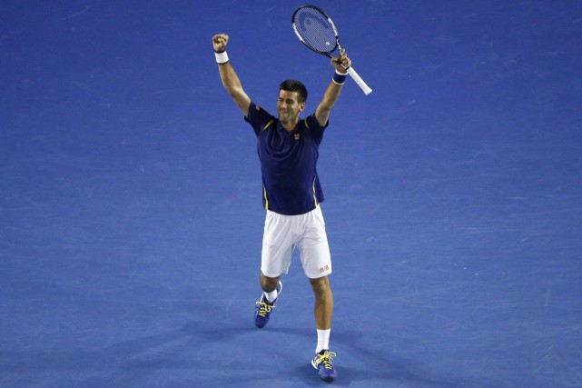 Novak Djokovic participera à sa sixième finale à Melbourne.... (Photo JASON REED, REUTERS)