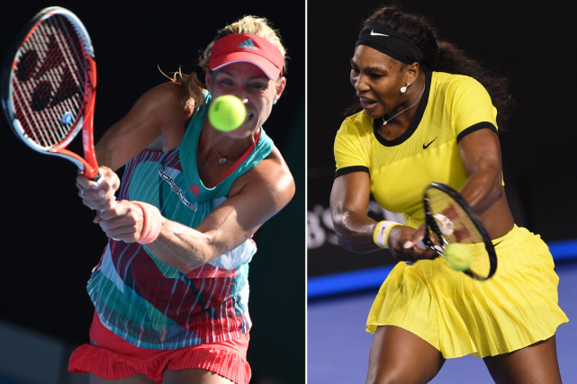 Angelique Kerber et Serena Williams ont accédé à... (Photos Williams West, AFP)