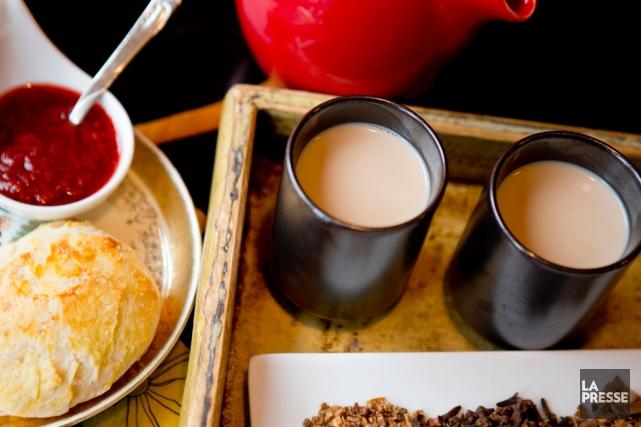 Le thé latté d'hiver du Cha Noir.... (PHOTO MARCO CAMPANOZZI, LA PRESSE)