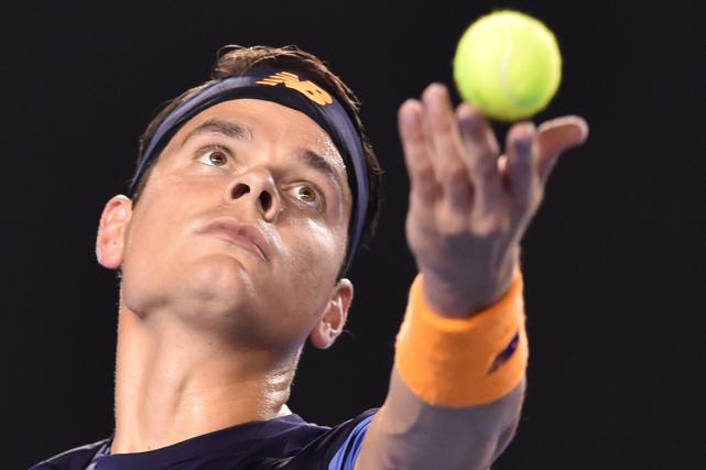 Milos Raonic est toujours invaincu cette année en... (Photo Peter Parks, AFP)